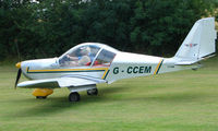 G-CCEM - EV-97A Eurostar - a visitor to Baxterley Wings and Wheels 2008 , a grass strip in rural Warwickshire in the UK