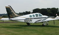 N125AV @ EGBM - Beech 58 with Jaguar insignia at Tatenhill