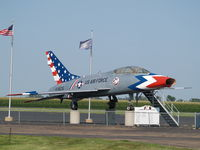 56-3825 @ KAUH - F-100 SUPER SABRE AT AURORA - by Gary Schenaman