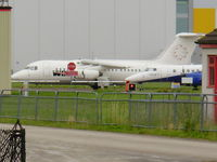 D-AWUE @ EGNR - British Aerospace BAe-146-200, (cn E2050) WDL Aviation - by chrishall