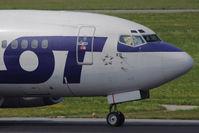 SP-LKD @ VIE - 1992 Boeing 737-55D   with modern art of sun shields!