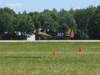 N49674 @ OSH - Departing RWY 36, Airventure 2008 - Oshkosh, WI - by Bob Simmermon