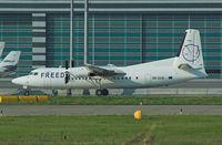 5B-DCB @ LOWW - Freedom Airways Fokker 50  CYPRUS - by Delta Kilo