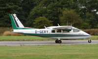 D-GERY @ EGBM - German photo survey aircraft in UK