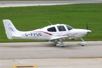 C-FPDE @ CID - Taxiing to Landmark FBO - by Glenn E. Chatfield