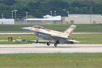 99-9426 @ NFW - Israeli F-16D (201) Landing at Carswell Field during a foactory test flight. - by Zane Adams