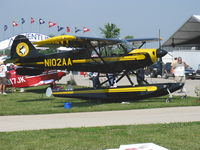 N102AA @ OSH - 2007 Aviat A-1B HUSKY, Lycoming O-360-A1P 180 Hp, on floats - by Doug Robertson