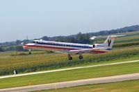 N623AE @ CID - Airborne off Runway 9 - by Glenn E. Chatfield