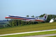 N623AE @ CID - Airborne off Runway 9 - by Glenn E. Chatfield