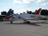 163644 @ KOFF - GOOSEHAWK T-45A AT OFFUTT AFB - by Gary Schenaman