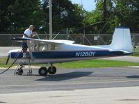 N1280Y @ HOC - Fueling at Hillsboro, Ohio - by Bob Simmermon