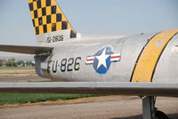51-2826 @ KONO - Sabre Parked at Ontario Airport. Korean War combat veteran. Part of Project GunVal. Part of the Merle Maine collection - by Bluedharma