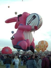 N15EB - Energizer Bunny Hot Air Balloon at 2002 Albuquerque Balloon Fiesta
