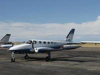C-FFZJ @ CYS - 1973 Cessna 340, two Continental TSIO-520-K 285 Hp each - by Doug Robertson