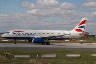 G-EUUO @ LHBP - British Airways Airbus 320