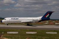 HA-LMB @ LHBP - Malev Fokker 70