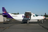 N995FE @ KPAE - Outside our local paint shop