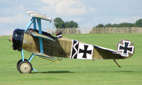 G-CDXR @ EGBK - Replica Fokker DR1 - Visitor to Sywell on 2008 Ragwing Fly-in day