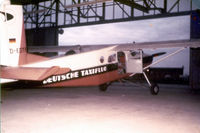 D-EDTF @ EDFM - Pilatus Porter PC-6 in Deustche taxiflug colors Reg# D-EDTF at Nueostheim, Germany @ 1961 - also noted in registry as - OE-DEM, D-EDTF, HB-FCG - by Zane Adams