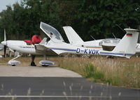 D-KVOK @ LFNG - Arriving from flight and parked here for the night... - by Shunn311