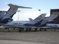 N830AA @ KYIP - Falcon 20