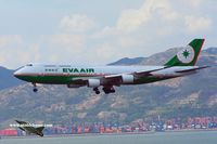 B-16403 @ VHHH - EVA Air approaching runway 25R - by Michel Teiten ( www.mablehome.com )