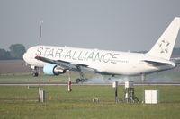 OE-LAZ @ LOWW - Boeing 767 landing RWY16