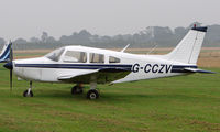 G-CCZV @ EGBT - Piper Pa-28-151 at a wet Turweston