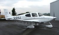 G-DOLI @ EGBT - New Cirrus 20 outside the UK dealers at Turweston