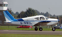 G-BBIL @ EGSX - Piper Pa-28-140 taxies in at North Weald