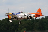 N4747P @ YIP - P-47D Tarheel Hal