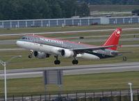 N314US @ DTW - Northwest A320