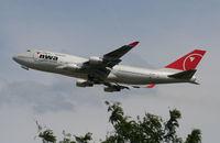 N676NW @ DTW - Northwest 747-400