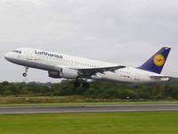 D-AIQT @ EGCC - Lufthansa - by chris hall