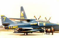 158722 - USN Blue Angels #7 at the former Dallas Naval Air Station - by Zane Adams