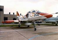 158118 - USN Skyhawk at the former DAllas Naval Air Station