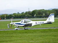G-BYUM @ EGPF - 1 EFTS Tutor taxiing out a Glasgow,call sign Uniform 40 - by Mike stanners