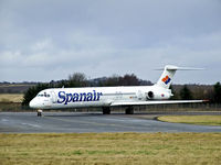 EC-GOU @ EGPH - Spanair MD-83 Taxiing into Edinburgh airport - by Mike stanners