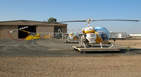 N1354X @ MIT - Inland Cropdusters 1966 Bell 47G-4A sprayer @ Shafter, CA - by Steve Nation