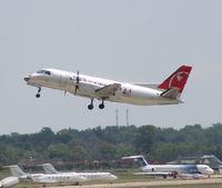 N407XJ @ DTW - Mesaba Saab 340