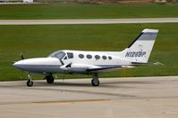N126BP @ CID - Taxiing to Runway 27 for departure. - by Glenn E. Chatfield
