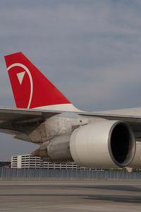 N624US @ VIE - Northwest Boeing 747-200