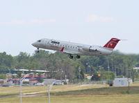 N820AY @ DTW - Pinnacle CRJ-200 - by Florida Metal