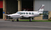 OY-CKR @ EGBJ - noted at Gloucestershire Airport  UK in Sept 2008