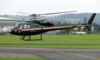 G-LNTY @ EGBJ - AS355F1 noted at Gloucestershire Airport  UK in Sept 2008