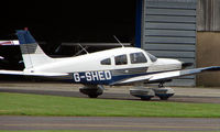 G-SHED @ EGBJ - Piper Pa-28-181 noted at Gloucestershire Airport  UK in Sept 2008