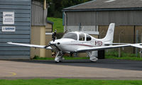 M-YGTS @ EGBJ - newly regoistered on the Manx Register Cirrus SR20 GTS noted at Gloucestershire Airport  UK in Sept 2008