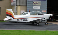 G-AZBE @ EGBJ - AirTourer noted at Gloucestershire Airport  UK in Sept 2008