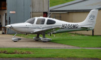 N286MD @ EGBJ - Cirrus SR22 noted at Gloucestershire Airport  UK in Sept 2008