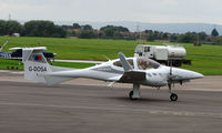 G-DOSA @ EGBJ - RAF Diamondstar Da42M noted at Gloucestershire Airport  UK in Sept 2008